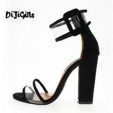 2018 shoes Women Summer Shoes T-stage Fashion Dancing High Heel Sandals Sexy Stiletto Party Wedding Shoes White Black(China)