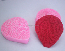 FM238  Multi texture leaves silicone fondant cake molds soap chocolate mould for the kitchen baking clay mould