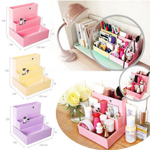 Fashion Practical DIY Paper Board Storage Box Desk Decor Stationery Makeup Cosmetic Organizer Hogard