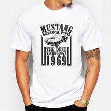 Hot Sale 2017 Summer New Men Ford Mustang Short Sleeve Men's Fashion Car Printed T-shirt Male Casual Tees Car Lovers Tops O-neck(China)
