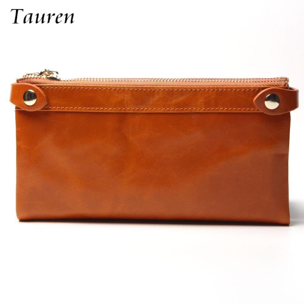 Women Wallets Genuine Leather  Medium-Long Organizer Wallet Oil Wax Cowhide Hasp Vintage Lady Clutch Carteira Feminina Purse<br><br>Aliexpress
