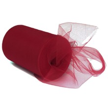 Tulle Roll Tutu DIY Skirt Gift Craft Party Bow 6inchx100yd Colorful Tissue Tulle Roll Spool Craft Wedding Party Dark red
