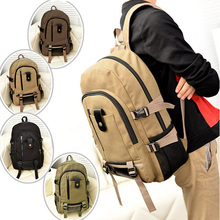 Fashion Unisex Large Capacity Casual Canvas Shoulders Bag Backpack Schoolbag Bookbag  Popular