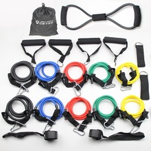 60-200 LBS Various Sets of Pull Rope Latex Rubber Pulling Resistance Band Fitness Training Jump Volleyball High Kick(China)
