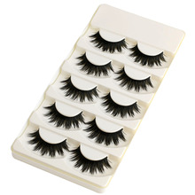 5 Pairs Soft Long Makeup Cross Thick False Eyelashes Eye Lashes Nautral Handmade Hot Sale(China)
