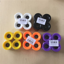 4PCS/Set 60x45mm Blank Longboard Skateboard Wheels 80A Fruit Solid Color PU Cruiser Board Wheels(China)