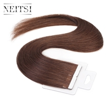 "Neitsi Straight Brazilian Skin Weft Hair Remy Tape In Human Hair Extensions 16"" 1.5g/s 20pcs 14 Colors"