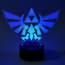 The Legend of Zelda Visual Illusion LED 3D Nightlight RGB Color Changing Link Action Figure Anime Game Breath of the Wild(China)