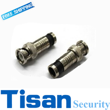 10pcs JR-B68 rg59 rg6 rg59u crimp BNC connector for CCTV system(China)