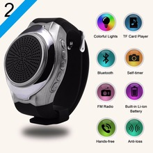bracelet bluetooth smart watch U3  Portable bluetooth speaker with colorful lights, FM radio, Selfie, anti-loss, sim card
