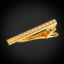 Kpop Luxury Gold/Silver Color Tie Clip For Mens Wedding Gift Pin Clasp Tie Bar Fashion Classic Tie Clip For Business Suit TC194Y