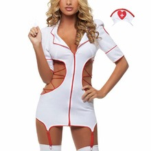 Buy BONJEAN 2017 hot sale sexy hollow nurse costumes Sexy Lingerie hot Charming lace sexy costumes erotic lingerie sexy underwear