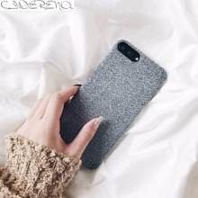 CIDERENA Mobile Cases 1 Pc/lot Soft PU Plain Simple Flannel Suede Microfiber Cell Phone Case Cover for iPhone 6s Plus(China)