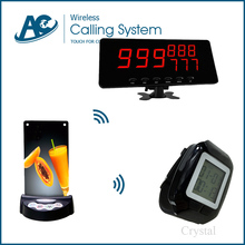 5 menu holder 1 watch 1 display monitor durable-use fast-food restaurant customer call waiter small waiter paging system