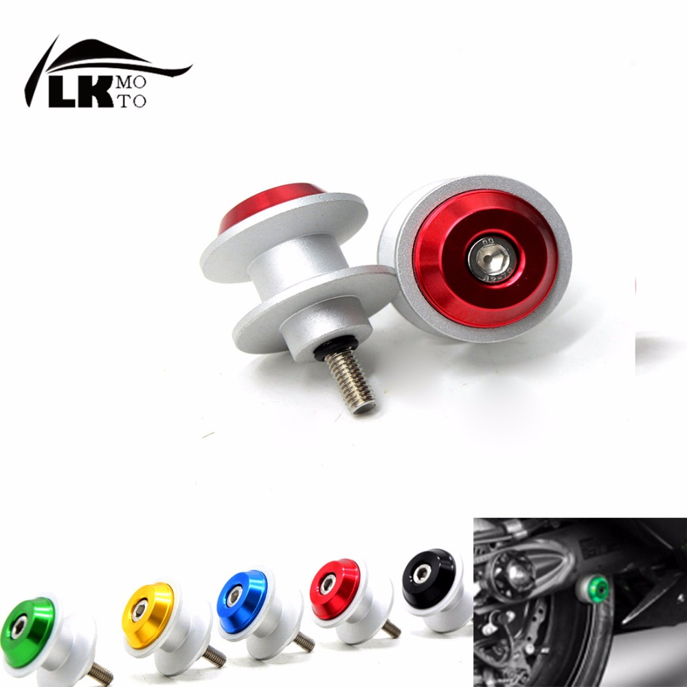 6mm Universal CNC Motorcycle motorbike Stands Starting Screws Swingarm Spools Sliders Bolts  For honda hornet steed dio goldwing<br><br>Aliexpress