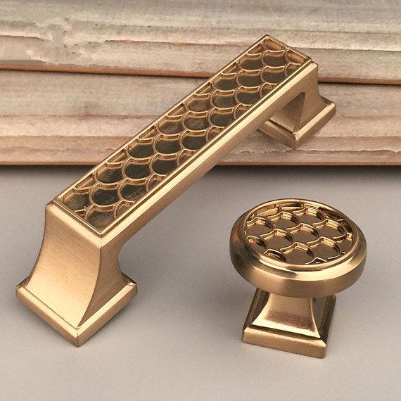 3 Gold Dresser Knob Handles  Cabinet Pulls Knobs Kitchen Hardware Cupboard Handles  Modern Pulls Furniture Handles 76 mm<br><br>Aliexpress