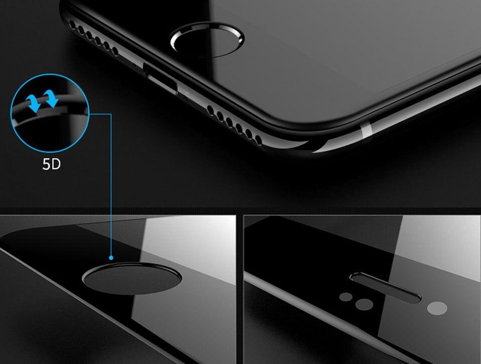 5D Glasses for iPhone 6 6s plus Glass Film Full Cover iphone6 Screen Protector for iPhone 6 6s 7 8 plus x Tempered Glass 3D 4D (5)