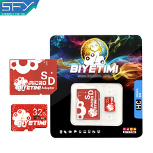 2016 New SFY Usb Flash Drive Store BIYETIMI Real Capacity Red Heart 8GB 16GB 32GB Memory Card TF Card Micro SD Card Free Adapter(China)