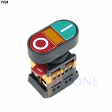 1pc Start Stop Push Button Light Indicator Momentary Switch Red Green Power ON OFF