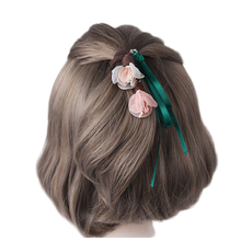 M MISM 2017 Women Elegant Ponytail Holder Elastic Band Tassel Scrunchy Girl's Flower Shape Hair Accessories Rope Headwear(China)
