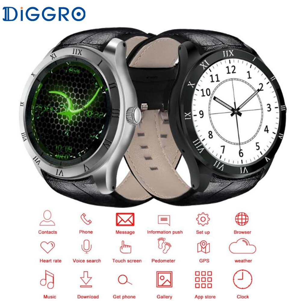Diggro DI05 Smart Watch Android 5.1 Bluetooth 4.0 8GB ROM 2/3G Network NANO SIM Card WIFI GPS Calling Smartwatch For iOS Android(China)