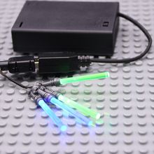LED light 4 lightsaber 1 USB lego 10221 75054 figure star wars trooper darth vader Yoda Toys Force Awakens Nano DIY