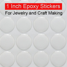 1 inch epoxy stickers adhesive circle stickers Self Adhesive Stickers 3D effect Clear Round Epoxy stickers Domes 100pcs