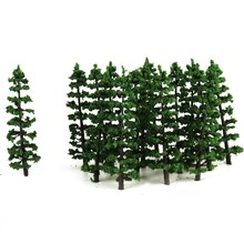 20Pcs/set 1/100 Green Fir Trees Model Train Railway Forest Street Scenery Layout For Sand Table Landscape Model Decor Toys(China)