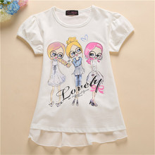 2017 New Brand Girls T-shirt Short Sleeve Top Summer Baby Girl T Shirt Tshirts Kids Children Clothing Garcon