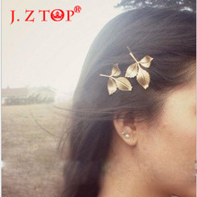 Acessorios Para Cabelo Real 2016 New Fashion Leaves And Fresh Greek Wind Mori Antique Leaf For Clip Hair For Women(China)