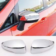 For Ford Escape Kuga 2013 2014 2015 2016 Chrome Door Side Mirror Cover Rear View Trim Cap Garnish Molding Overlay Car Styling(China)