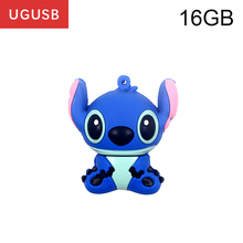 Cheap gift !!cartoon Lilo & Stitch PVC Usb flash drive Pen drive Usb memory stick thumb Pendrive disk 1GB 2GB 4GB 8GB 16GB 32GB