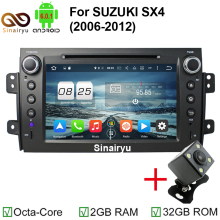 ROM 32GB 1024x600 Octa Core Android 6.0.1 Fit SUZUKI SX4 2006-2008 2009 2010 2011 2012 Car DVD Player Navigation GPS TV 4G Radio