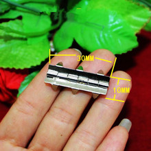 White Metal Cabinet Door Luggage Hinge,Furniture Decoration,Antique Vintage Old Style,30*10mm,20Pcs