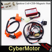 Stator Magneto Racing Ignition Coil 6 Pins Wires AC CDI Box For Chinese GY6 50cc Engine Moped Scooter ATV Quad