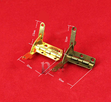 50pcs/lot Antique bronze Hinge support seven words small hinges 33*30 mm spring hinge box hardware fittings(China)