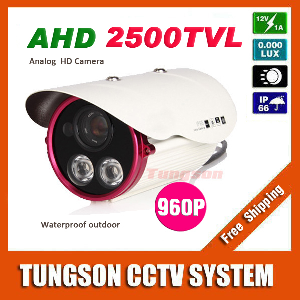 New Product HD ahd Video Surveillance 2500TVL Waterproof Outdoor 2*Array infrared Security 1.40MP 1280*960P CCTV Camera<br>