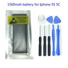 1560mAh 3.8V Li-ion Internal Battery Replacement for iPhone 5S 5C With Free Repair Tools(1 pc)(China)