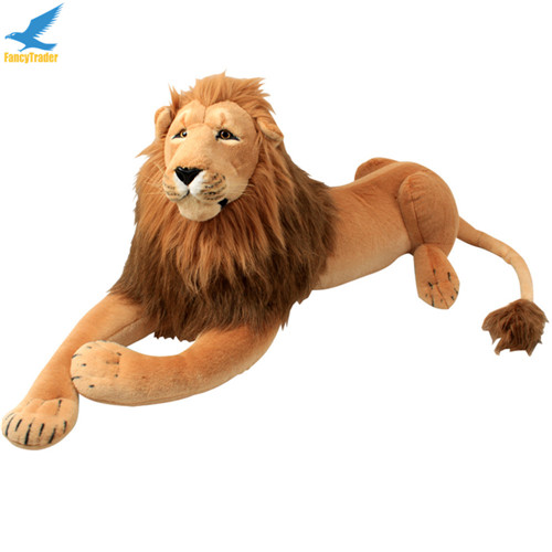 Fancytrader 43\'\' Giant Plush Stuffed Simulation Lifelike Lion King Simba Can be Rided by Kids Great Gift FT90284 (9)
