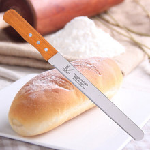 New Stainless Steel Bread Knives 10/12 inch serrated knife and cake baking pastry cutter tool K0441(China)