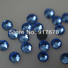 Promotion DMC Hotfix Rhinestone SS10 Sapphire 1440pcs/pack CPAM Iron on stones and crystals Garment accessories(China)