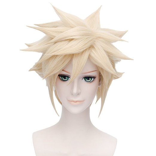 Final Fantasy VII Cloud Strife Short Spiky Anime Costume Cosplay Hair Wig<br><br>Aliexpress