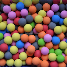 Free Shipping 7 colors Golf ball indoor exercise ball foam ball eva solid color 20pcs/lot(China)