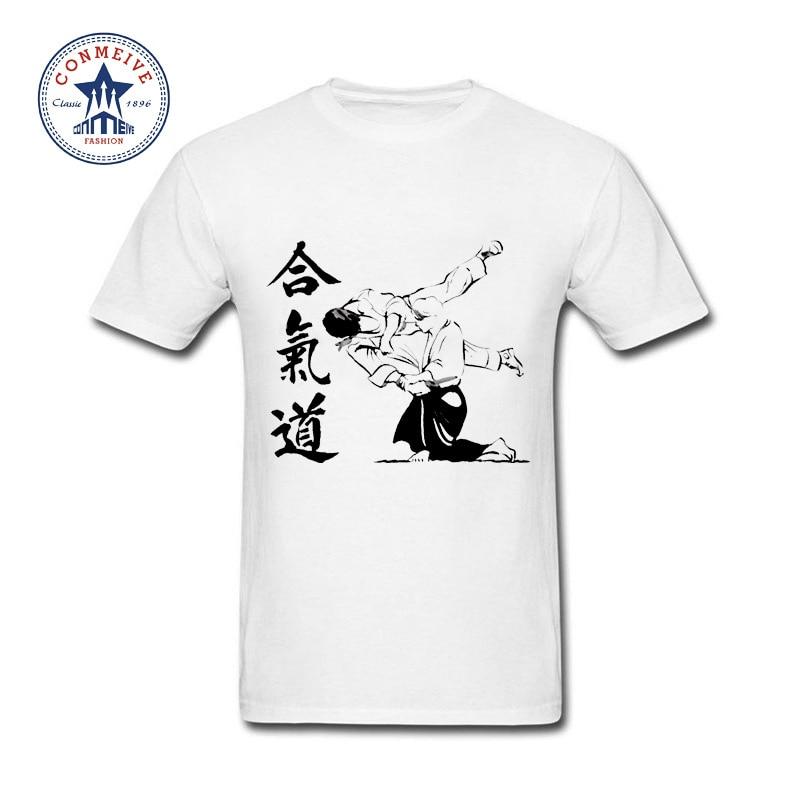 HTB1mY89ar3XS1JjSZFFq6AvupXab t shirt aikido 2017 Teenage Youth Funny Cotton for men