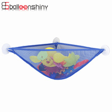 BalleenShiny Bathroom Suction Cup Net Bag Bath Baby Kid Storage Organizer Mesh Storage Bag Shower Toy Holder