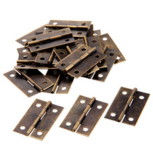 20Pc 34x22mm Antique Bronze/Gold Cabinet Hinges Furniture Accessories Wood Boxes Decorative Hinge Furniture Fittings For Cabinet(China)
