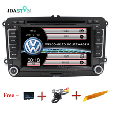2 din 7 Inch Car Radio DVD GPS Navigation For Volkswagen VW Passat B5 B6 Polo Golf 4 5 Touran Sharan Jetta Caddy T5 Tiguan Bora