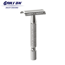 BAILI Men's Manual Classic Barber Shaving Safety Razor Shaver with 1 Platinum Blade for Beard Hair Cut Personal Care BT131