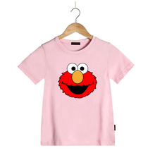 Boy T Shirt Children Summer Kids Tshirts Kids Girls Cartoon Sesame Street Elmo Cotton Summer T Shirt Short Sleeve Tshirt