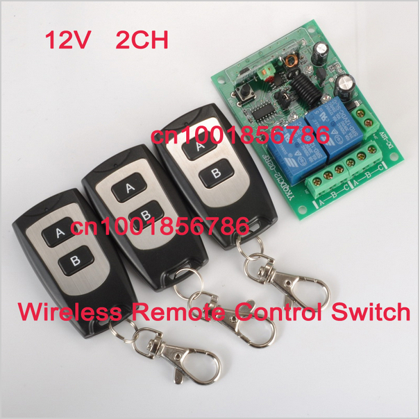 Wireless Remote Control Power Switch Security System Receiver DC12V 2CH Learning Code1Switch 3Controller 315Mhz/433Mhz<br><br>Aliexpress